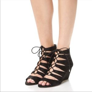 Sam Edelman | Black Santina Wedge Sandals